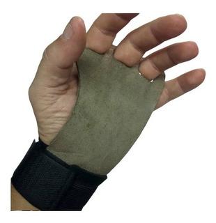 Luva Hand Grip Tok Para Crossfit 3 Furos Couro Legitimo