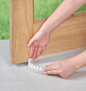 Guarda Polvo Adherible Puerta Ajustable Recortable Facil