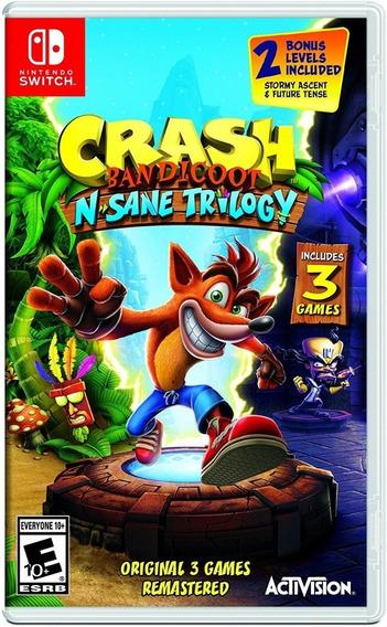Crash Bandicoot N. Sane + 3 Jogos Digitais Nintendo Switch