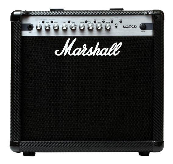 Cubo P/ Guitarra 12 Pol 50w Carbonfibre Mg50fx Marshall
