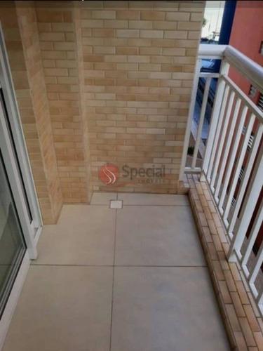 Apartamento Em Santos, 2 Dorms, 1 Vaga,r$ 450.000,00, Impecavel!!  - Af23228