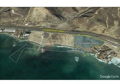 Inversion Terreno En Venta Frente Al Mar, Popotla, Playas De Rosarito. 4 Hectareas