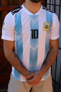 Camiseta Argentina Mundial 2018 Adulto Y Niño