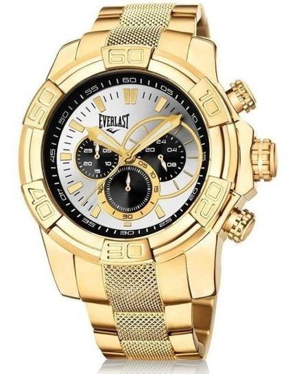 Relógio Cronografo Everlast E646 Dourado