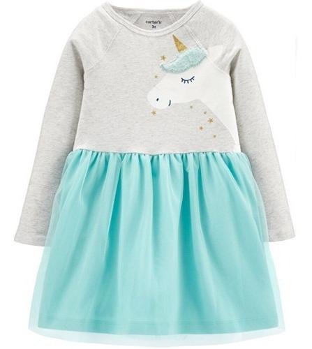 Vestido Niña Carter`s Tutu Unicornio Tallas 18ms, 24ms $399