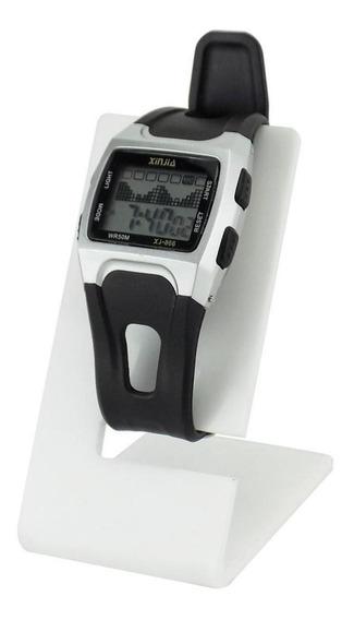 Relógio Masculino Digital Prata Á Prova D´água
