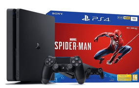 Video Game Playstation 4 Slim 1tb Spider-man Ps4