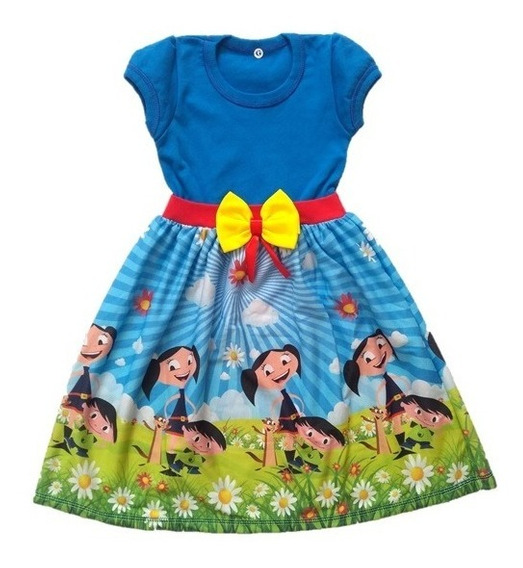 Vestido Infantil Luna - Show Da Luna - Malha Roupa/fantasia
