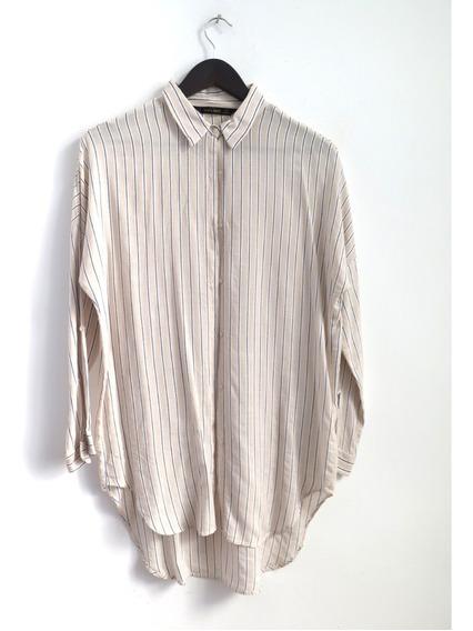 Camisa Marca Conocida Oversize Talle M