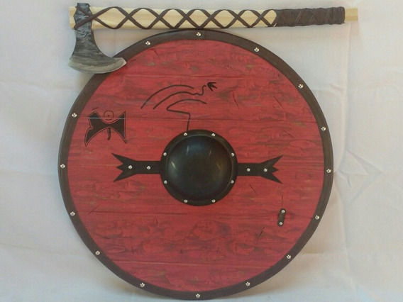 Escudo E Machado Viking Ragnar. Medieval Nórdico