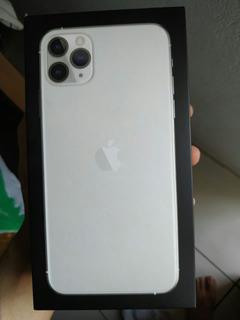 Caixa Vazia iPhone 11 Pro Max, Silver 64gb, Sem Manual.