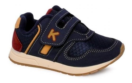 Tênis Klin Infantil Baby Walk Azul Marinho/mostarda 216009