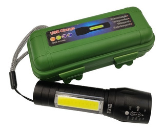 Kit 10 X Lanterna Tática Led Recarregável Mini Usb