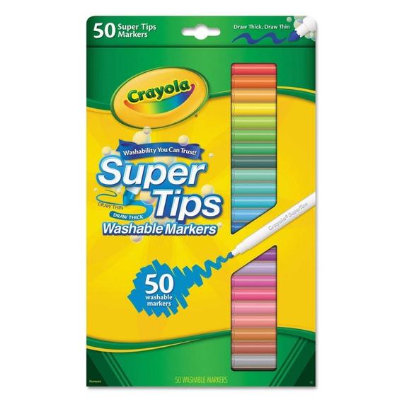 Canetinha Lavável Crayola Supertips 50 Cores - Frete Gratis