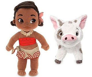 Paquete De Disney Moana 12 Plush Toddler Doll Y 9 Plush Pet