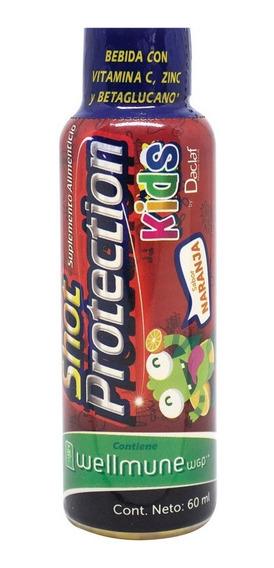 Shot Protection Kids Vit C+zinc+wellmune Pack C/6 Fcos 60 Ml