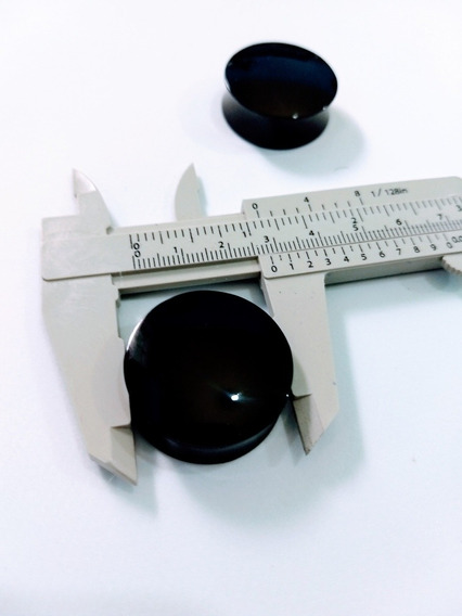 Alargador Preto Plug 28mm Plástico 2 Unidades Moda Unissex