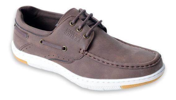 Zapatos Urbanos Hombre Massimo Chiesa Aren Cómodo Náutico
