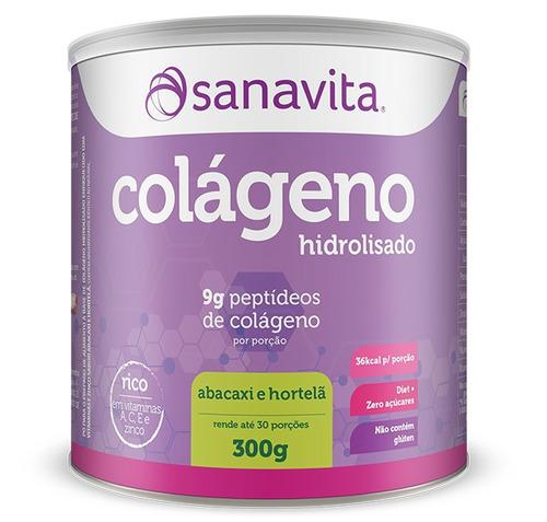 Kit 2 Colágeno Hidrolisado Abacaxi Com Hortelã Sanavita