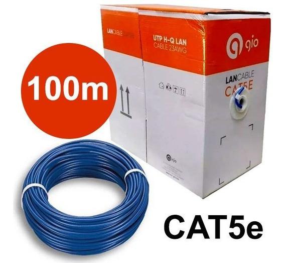 Bobina Rollo Cable Utp Gio Cat5e 100 Metros Rj45 Cctv Redes
