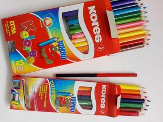 Colores Jumbo Kores Triangular Kit 19 Piezas