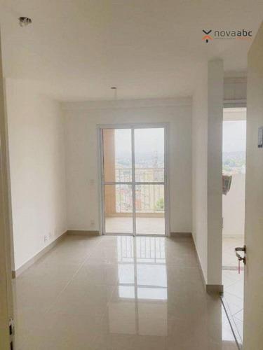 Apartamento Com 2 Dormitórios Para Alugar, 50 M² Por R$ 1.190/mês - Vila Curuçá - Santo André/sp - Ap3446