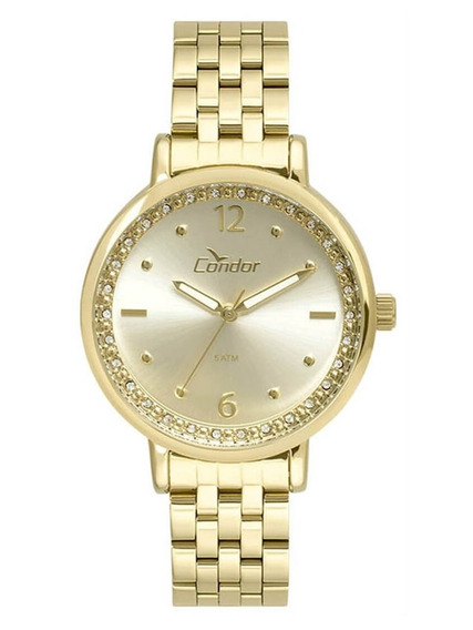 Relógio Condor Feminino Dourado 50 Metros Co2035fnf/4x