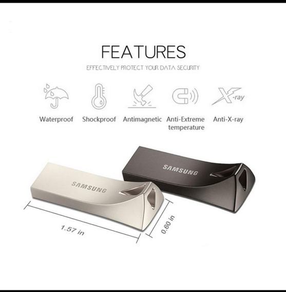 2 Pen Drive Samsung 512g 100% Original 3.1- Pronta Entrega