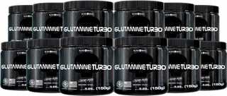 Combo 12 Glutamine Turbo 150g - Black Skull - Glutamina