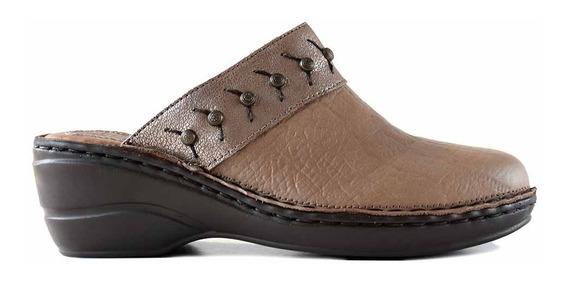 Zueco Mujer Cuero Zapatos Zapato Confort Negro - Mcsu48036