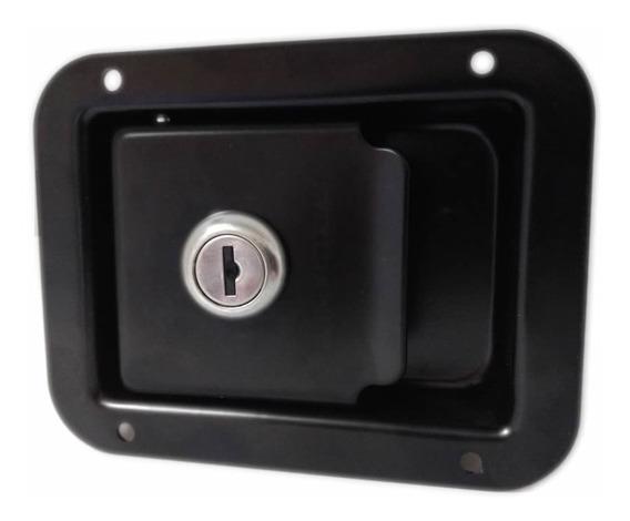 Cerradura Embutir Negra Bauleras, Mini Rodante, Dos Llaves