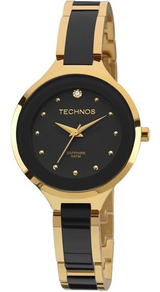 Relógio Technos Elegance Dourado Cerâmica 2035lyw/4p Oferta