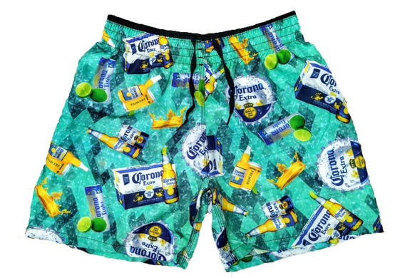 5 Shorts Praia Bermuda Masculino 5 Short Tactel Verão Ww