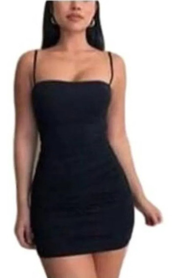 Vestido Midi Justo De Alcinha Decote Reto Estilo Kardashians