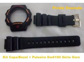 Kit Capa Pulseira G-shock Dw-6100 Thermometer Compatível