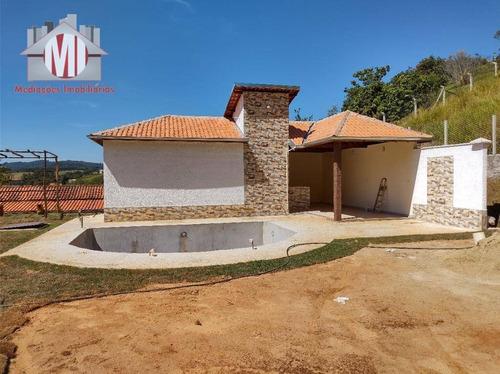 Imagem 1 de 30 de Linda Edícula, Construção Nova, Com 1 Dormitório, Área Gourmet, Piscina, Jardim, Lago, À Venda, 800 M² Por R$ 270.000 - Zona Rural - Pinhalzinho/sp - Ch0934