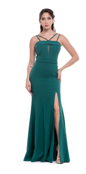 Vestido Madrinha Verde Serenit Marsala Rosa Chiclete Fenda