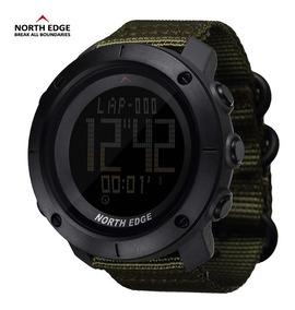 Relógio North Edge Tank Pulseira Nylon + 1 Pulseira Borracha