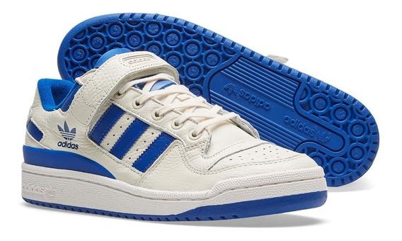 Tenis Zapatillas adidas Forum Low Blanca Azul Hombre