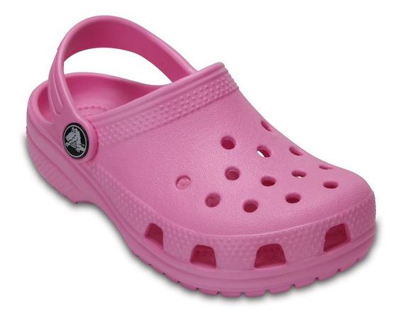 Zapato Crocs Infantil Classic K Rosa Pastel