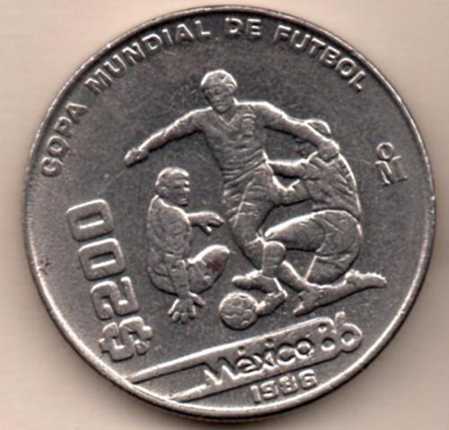 Imagen 1 de 3 de Moneda Docientos Pesos $200 Conmemorativa  Fub Boll 1986