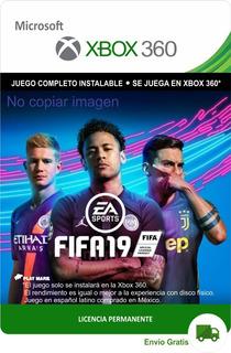 Fifa 19 Xbox 360- Español Latino - Permanente - Street 18