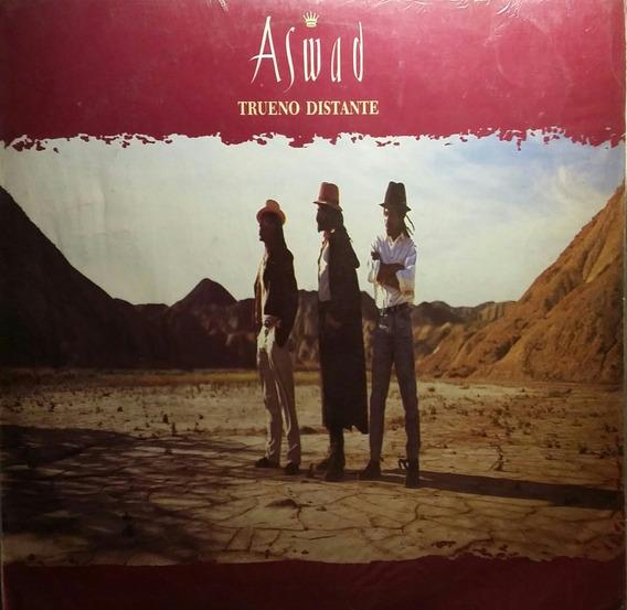 Disco Vinilo Aswad Trueno Distante Original Island 1988 Arg.