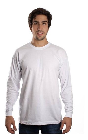 Kit Com 6 Camisetas Manga Longa Básica Lisa Camisa Blusa