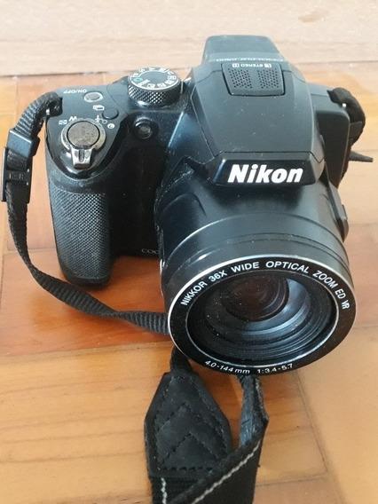Câmera Semi-profissional Nikon P-500 Com Case E Tripé.