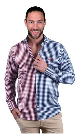 Camisas Hombre O Mujer Casual Portoblanco Cuadros Marino