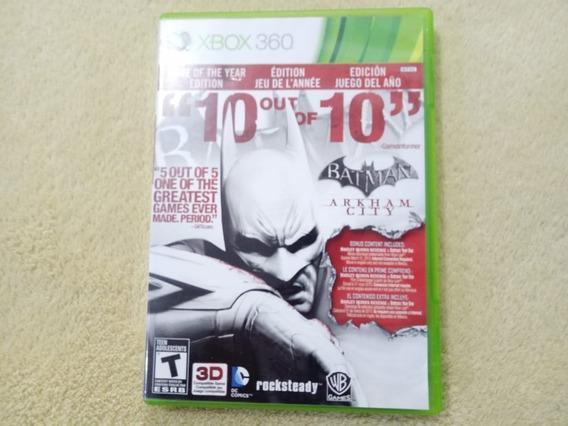 Jogo Batman Arkham City Xbox 360 Original
