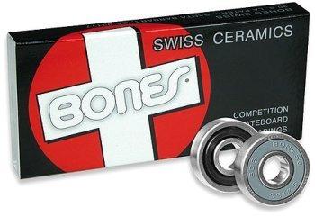 Bones Bearings Skateboard Ceramic Set Of 8 Swiss Sale!