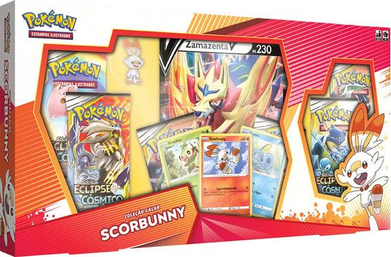Box Pokémon Scorbunny Zamazenta Galar Cards Espada Escudo