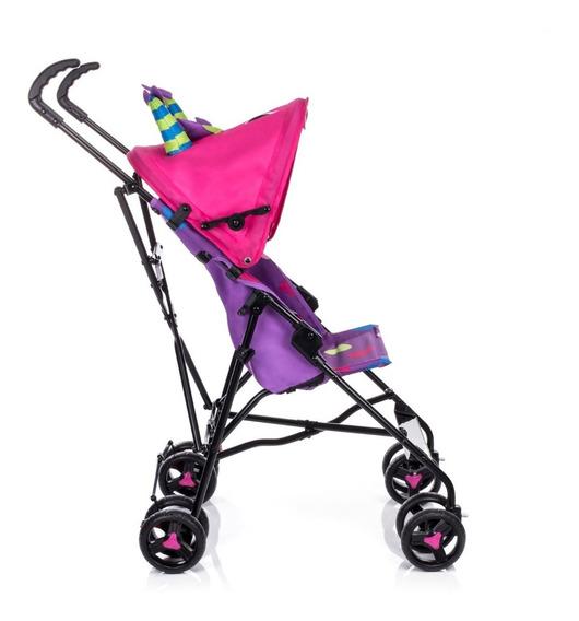 Carrinho De Passeio Bebê Menina Rosa Umbrella Monster Voyage